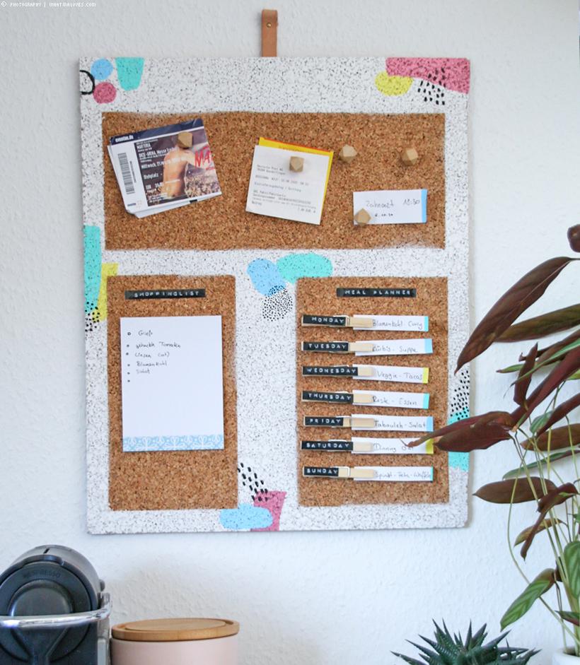 DIY: Kork-Pinnwand für die Küche
