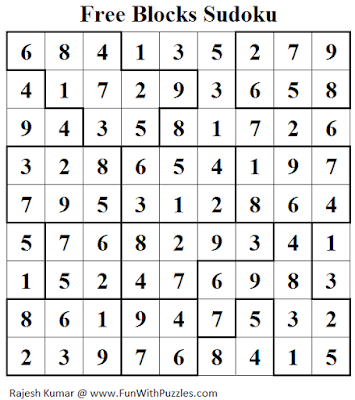 Free Blocks Sudoku (Daily Sudoku League #145) Solution