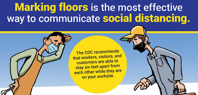How are Floor Markings Helping Social Distancing?