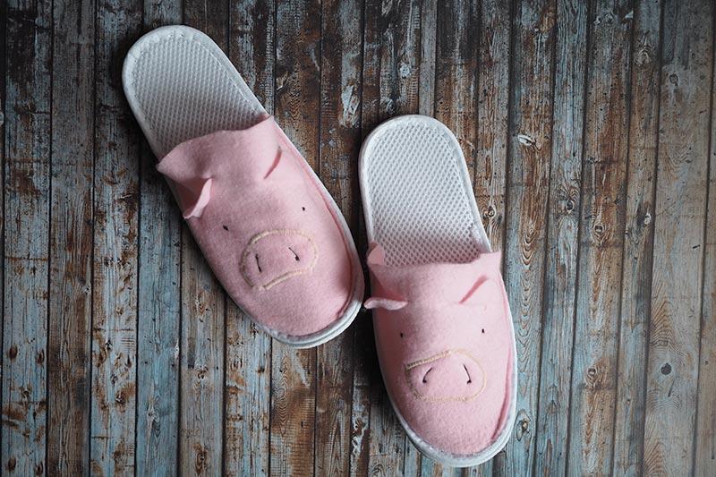 KuneCoco • DIY • Schweine-Pantoffeln