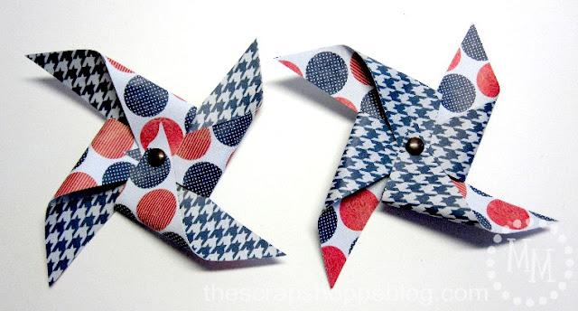 Patriotic Pinwheels paper