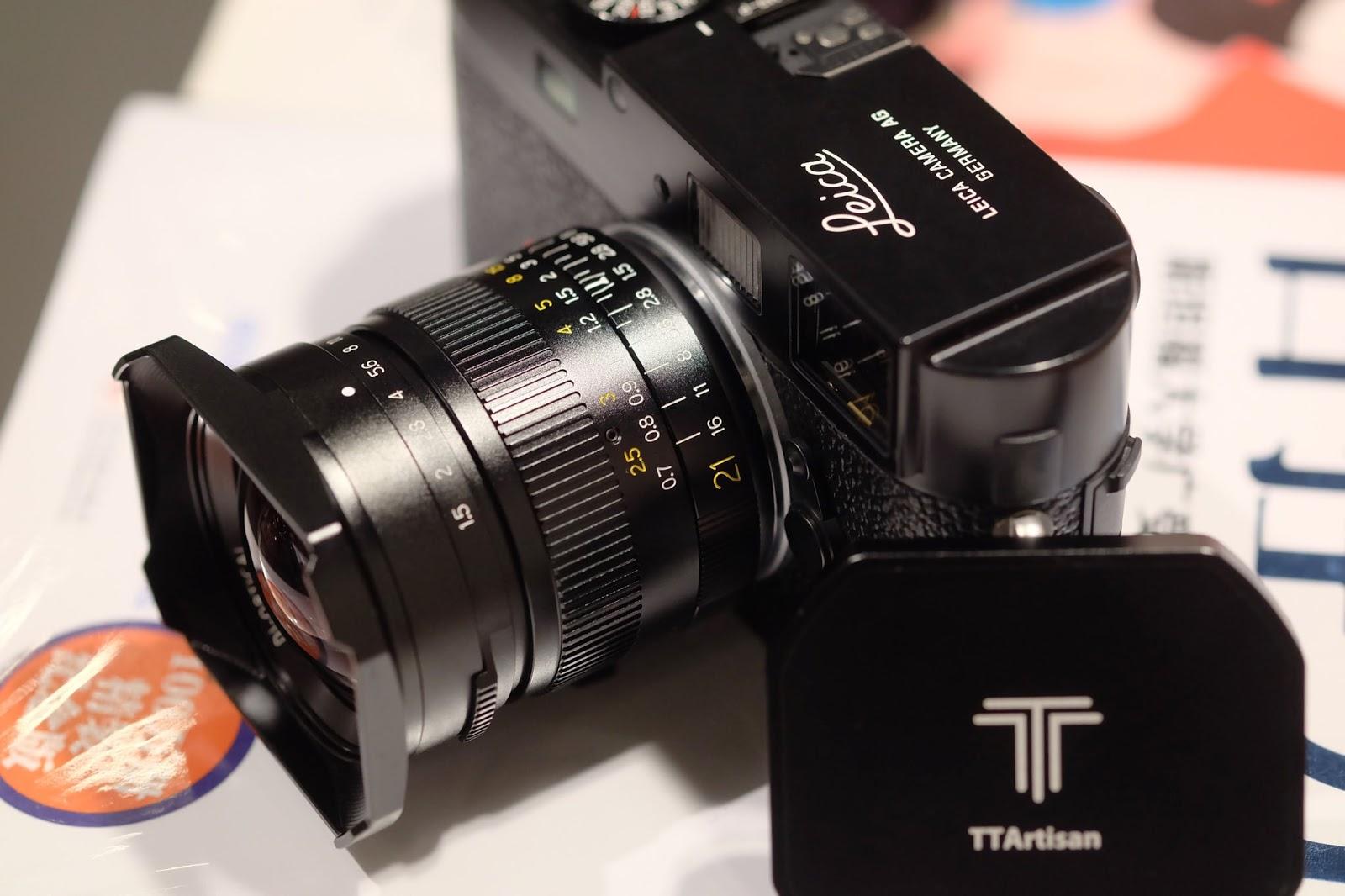 Объектив TTArtisan 21mm f/1.5 с камерой Leica