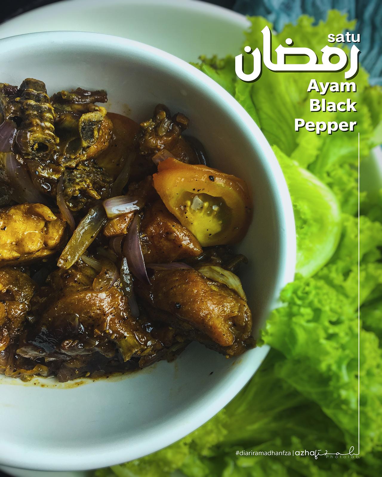 Resepi Ayam Black Pepper Mudah Masak Cara Fiza