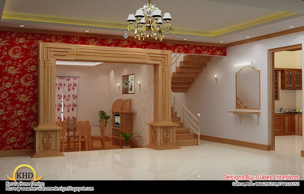 Kerala home design and floor plans home interior design ideas for Inside house decorating ideas