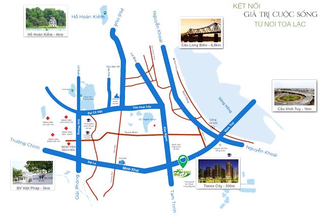 vị trí vàng dự án Green Pearl Minh Khai