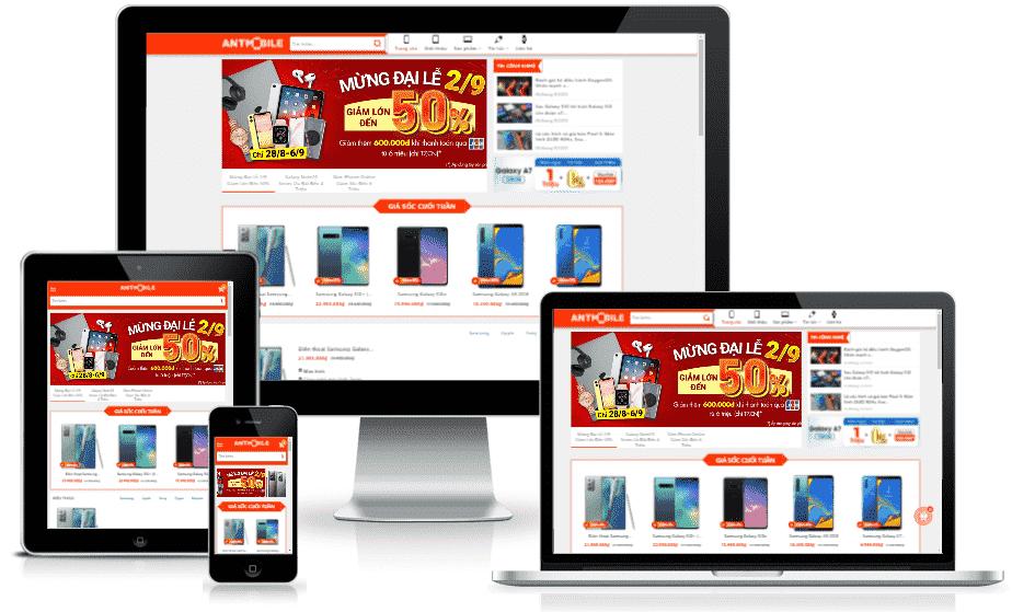 Template blogspot bán điện thoại máy tính