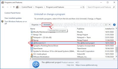 How to Uninstall Applications or Programs in Windows 7, 8, 8.1 & 10