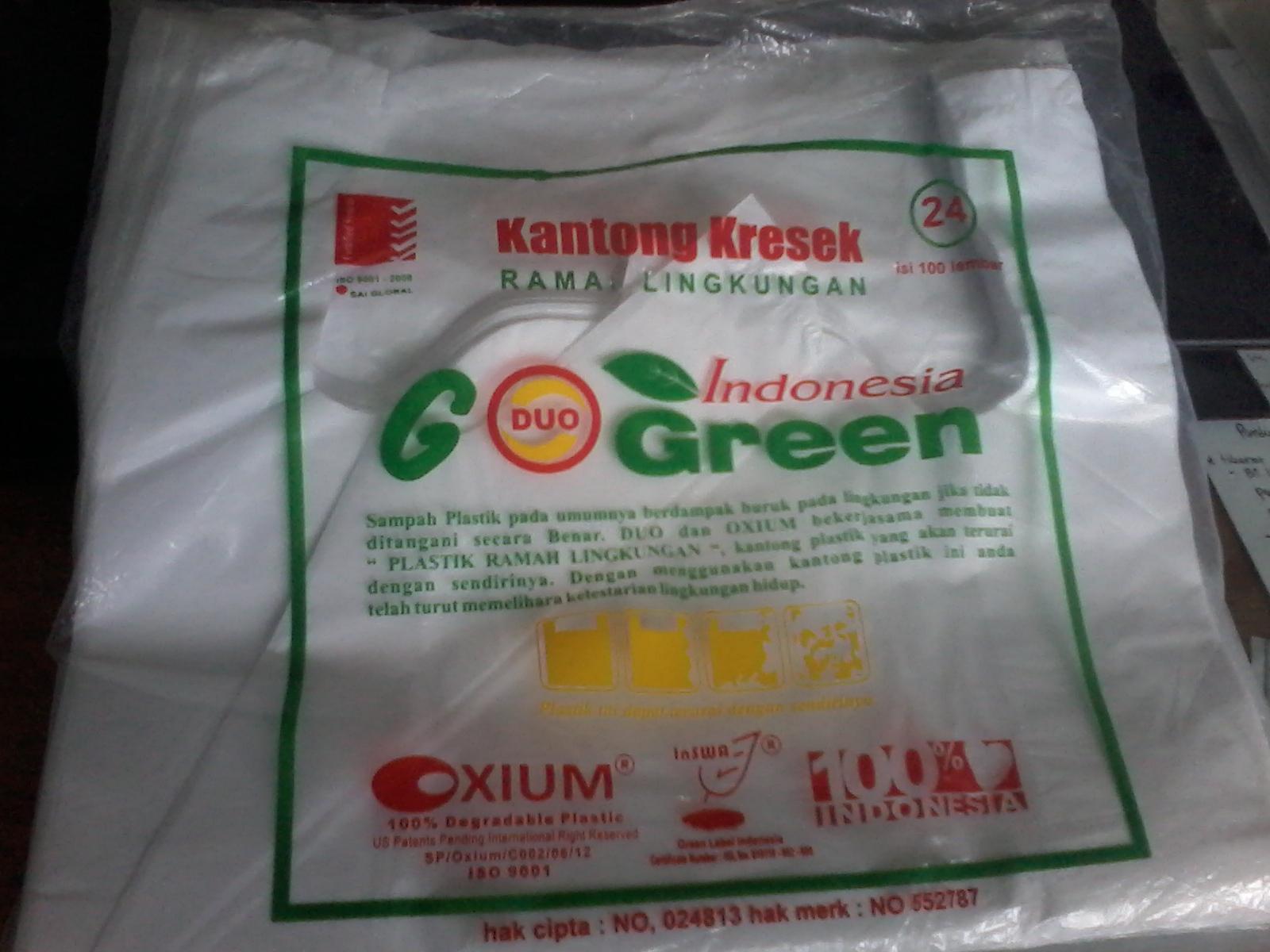 Distributor Plastik Kresek Hdpe Kotak Makan Duo Sunday Green Dengan Menggunakan Kantong Ini Anda Telah Turut Memelihara Kelestarian Lingkungan Hidup