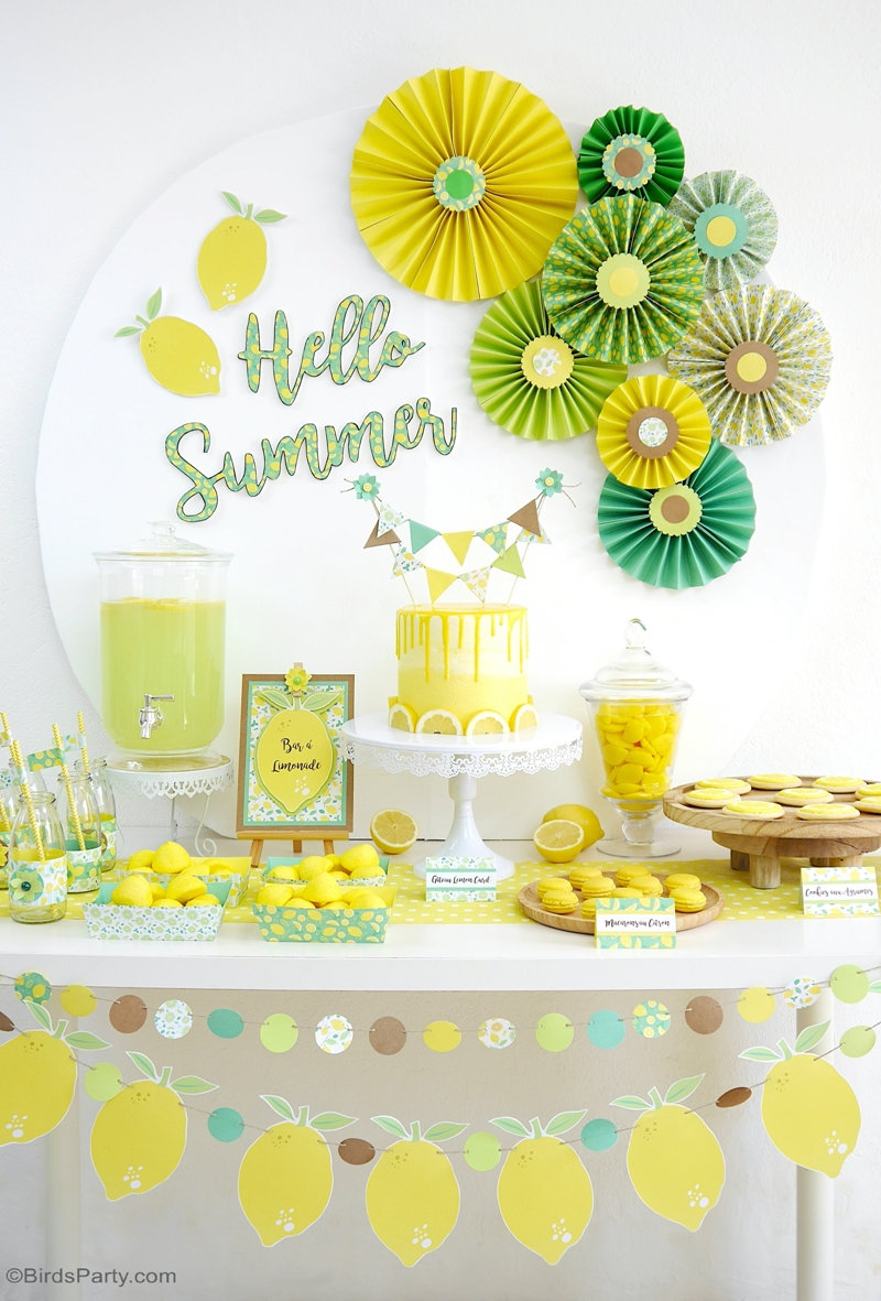 Lemon Themed Party Ideas with DIY Decorations - Party ...