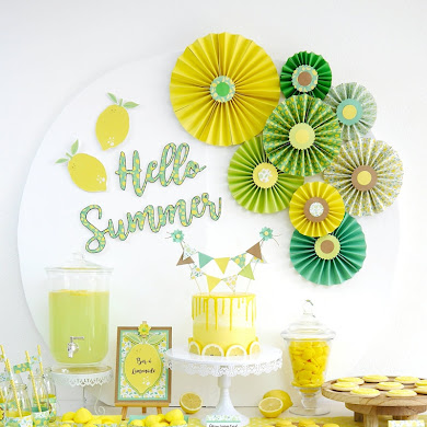 Lemon Themed Party Ideas with DIY Decorations