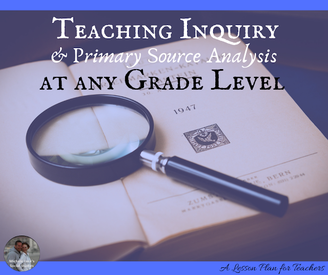 Teaching Inquiry and Primary Source Analysis at Any Grade Level