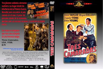 Carátula dvd: Tres camaradas (1938)