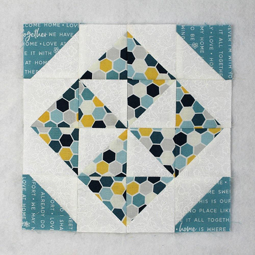 Pinwheel Variation Quilt Block designed by Elaine Huff of Fabric406