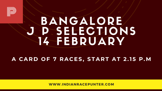 Bangalore Jackpot Selections 14 February, Jackpot Selections by indianracepunter,