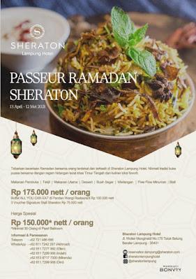 Hotel Sheraton Lampung Tawarkan Passeur Ramadhan Nasi Kebuli dan Mongolian BBQ