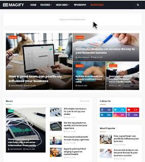 Magify Premium Blogger Template Free Download | Magify Pro Version Free Download