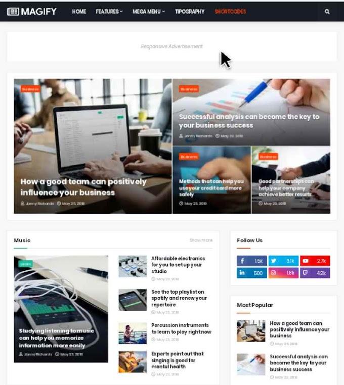 Magify Premium Blogger Template Free Download | Magify Pro Version Free
