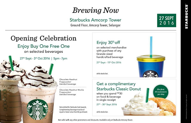 Starbucks Malaysia Buy One Free One Promo