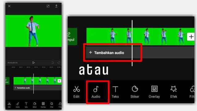 cara memisahkan lagu dari video di aplikasi CapCut
