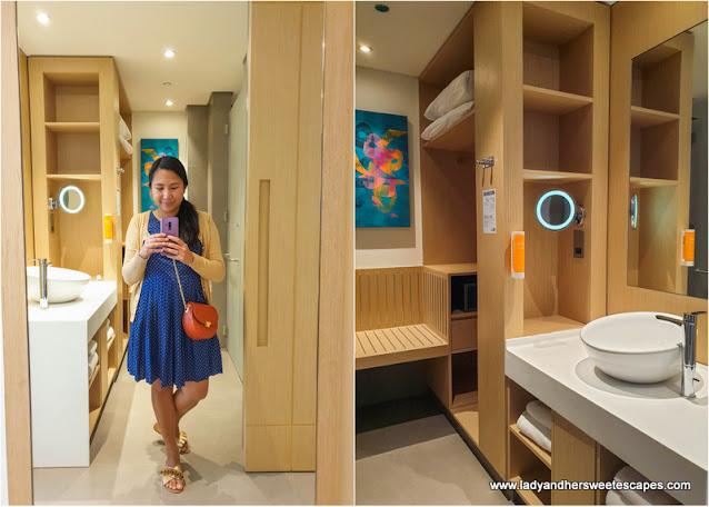 Premier Inn spacious ensuite bathroom