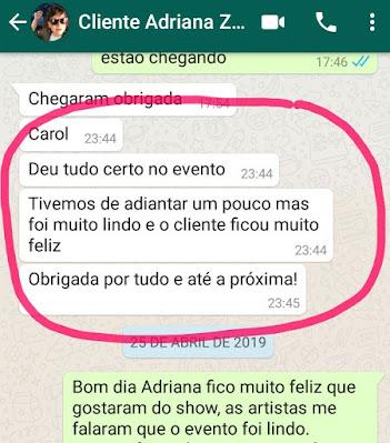 Depoimento de cliente de Humor e Circo sobre recepção circense com Perna de Pau Mystêre para o evento de premiação do Grupo LÓcitanne em São Paulo.