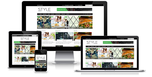 SALE Style Magazine Blogger Template – CreativeMarket 295948