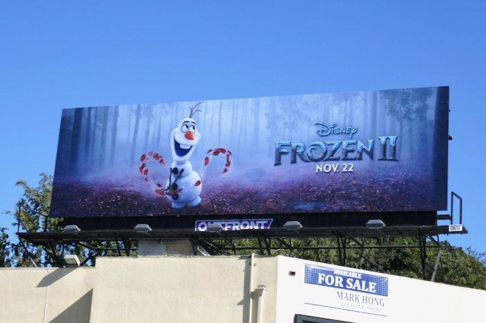 Olaf Frozen II movie billboard