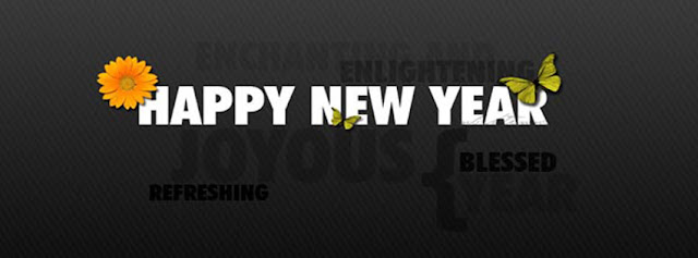 happy new year for Facebook timeline