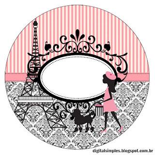 Etiquetas, o Toppers para Imprimir Gratis de Precioso París.