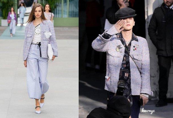 G-Dragon, Chanel kadın koleksiyonundan bir parça giydi