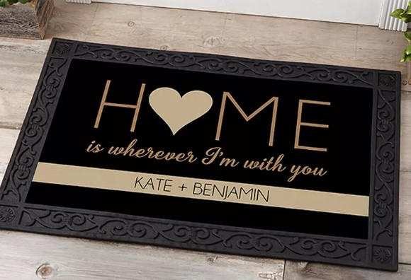 Personalization Mall HOME With You personalized doormat