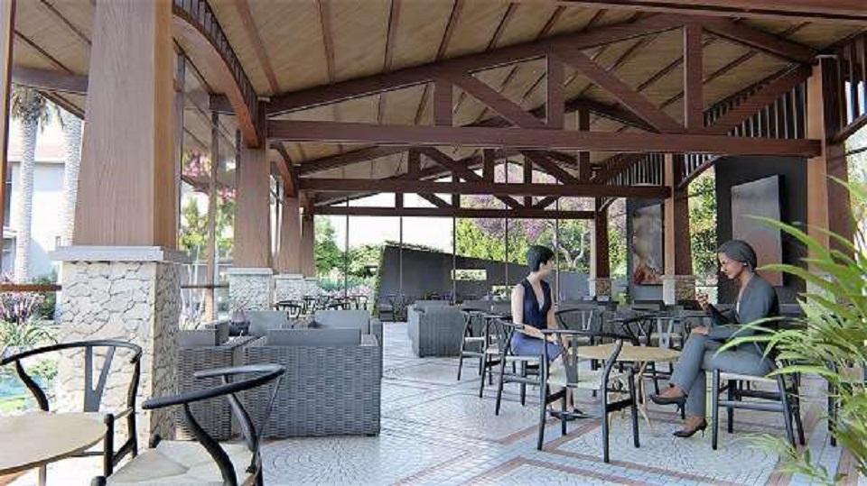 bàn ghế ở quán cafe