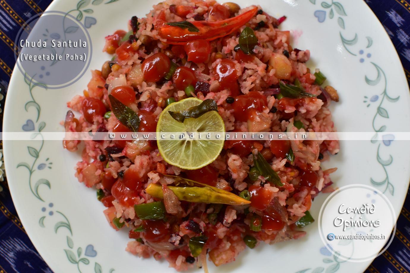 Chuda Santula (Vegetable Poha)