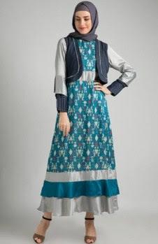 Model gamis batik remaja blazer