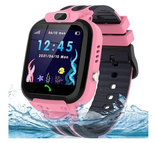 AOYMJRS Waterproof GPS Tracker Smartwatch for Kids