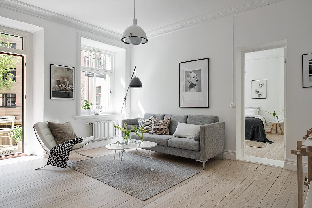 Skandynawskie mieszkanie 59m2 codziennie szczypta designu - Estilos decoracion de interiores ...