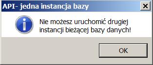 API jedna instancja bazy
