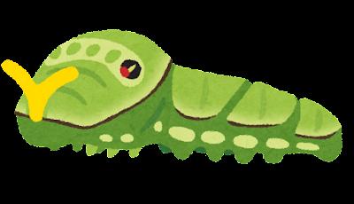 アゲハチョウの幼虫のイラスト(臭角あり)