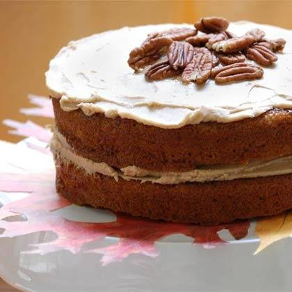 Maple Spice Cake with Caramel Frosting Recipe