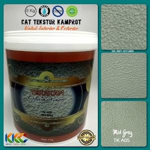 Kemasan 5Kg - Cat Tekstur Pasir Kamprot Warna Abu-Abu Sedang