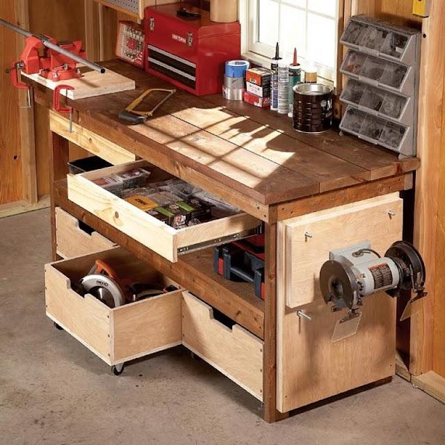¿Como hacer una mesa de carpintería? 30 Planos gratis