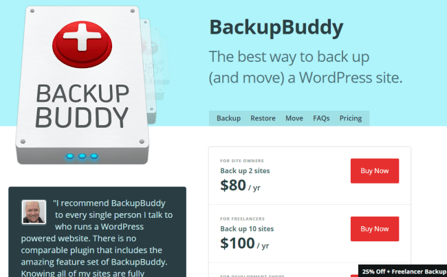BackupBuddy wp plugin