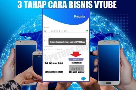 vtube registrasi, vtube register, daftar bisnis vtube, bisnis online vtube