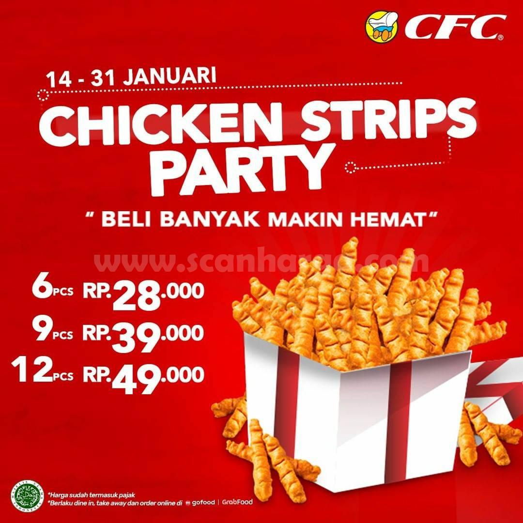 CFC Promo Chicken Strips Party harga spesial 6 pcs hanya Rp 28.000