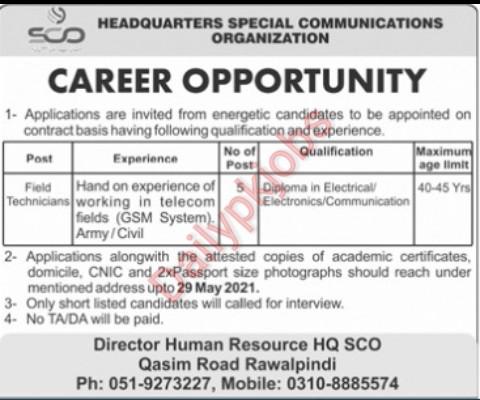 New Jobs Pak Army Jobs Headquarter HCO Rwp 2021
