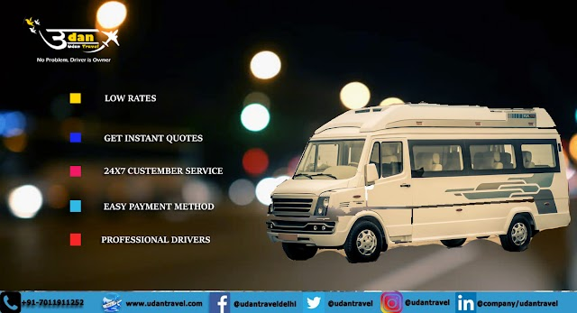15 16 Seater Tempo Traveller hire in Delhi | Booking online tempo traveller from Delhi Outstation