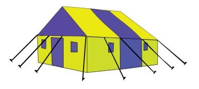 tenda berbentuk bangun ruang