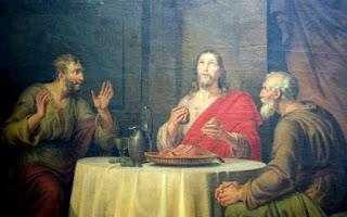 Emmaüsgangers, herkennen, brood, breken, delen