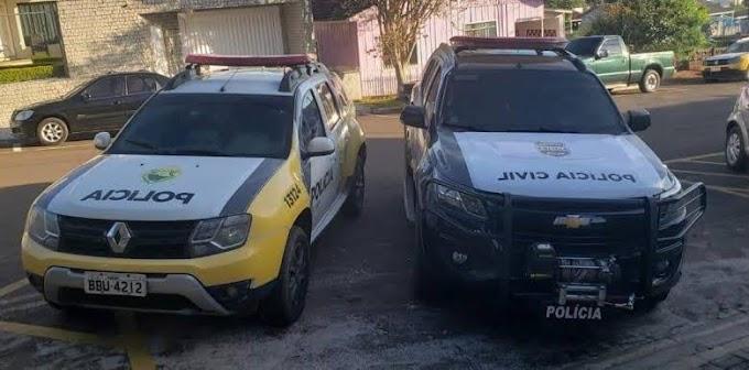 Operação entre GDE e Polícia Militar prende 4 pessoas investigadas por furto em Laranjeiras do Sul