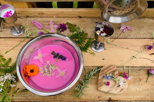 mud kitchen petal soup